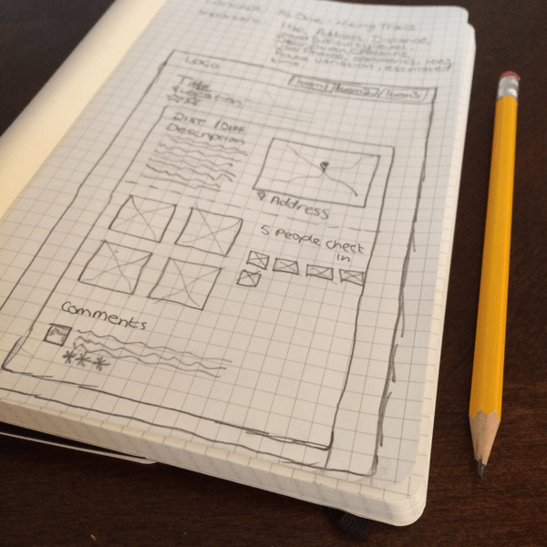 Initial Sketch of Page Layout