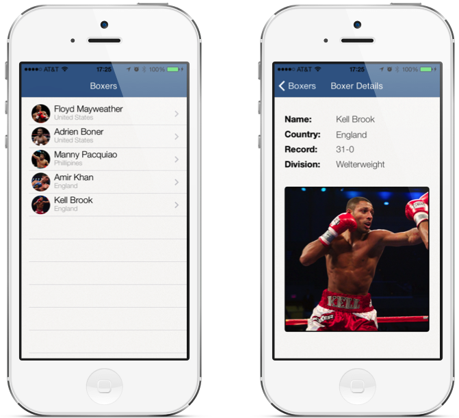 Simple Boxing iOS7 App