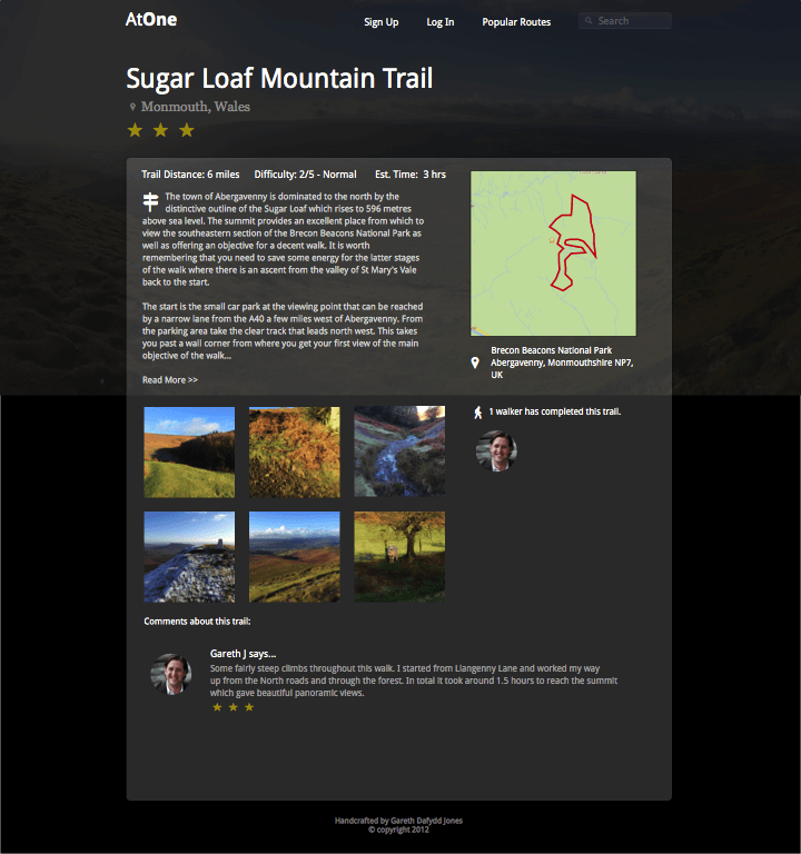 Near complete design of trail page