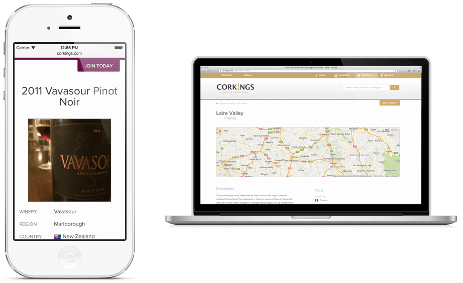 Corkings Online Wine Journal and Network