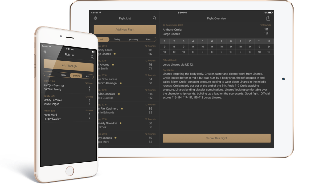 FightScores 2 for iOS